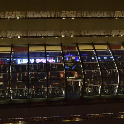 חדר כושר שקוף בקומה ה- 20 של המלון מריוט מרקיז ניו יורק