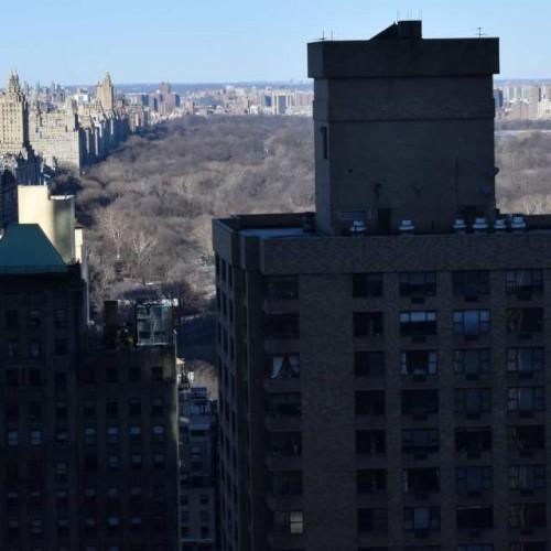 הנוף מקומה 34 לכיוון הסנטרל פארק מלון רזידנס אין סנטרל פארק ניו יורק
