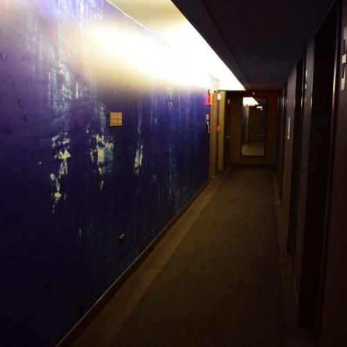 המסדרונות שבין החדרים בסגול מזעזע רזידנס אין סנטרל פארק ניו יורק