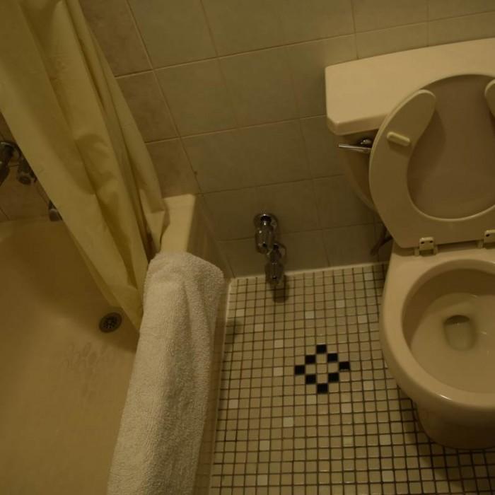 האמבטיה המשותפת כוללת גם את השירותים מלון 31 ניו יורק