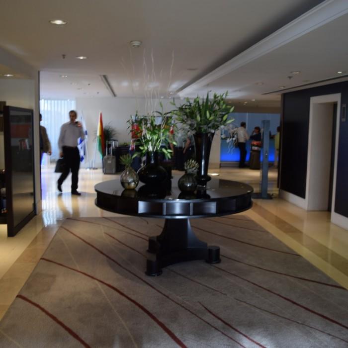 ההמתנה למעליות מלון קרלטון תל אביב