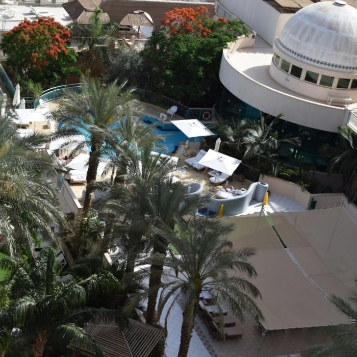 מבט על מתחם הספא מלמעלה ספא מלון הרודס ויטאליס אילת