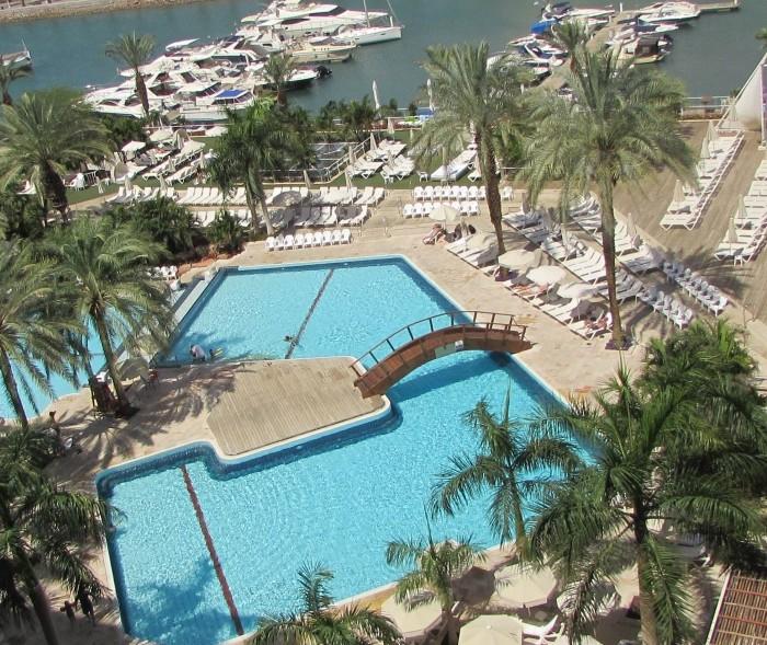 הבריכה מלמעלה מלון המלך שלמה אילת