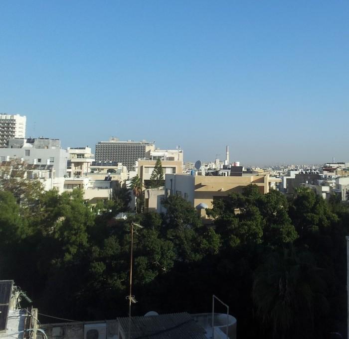 הנוף מהחדר מלון פרימה סיטי תל אביב