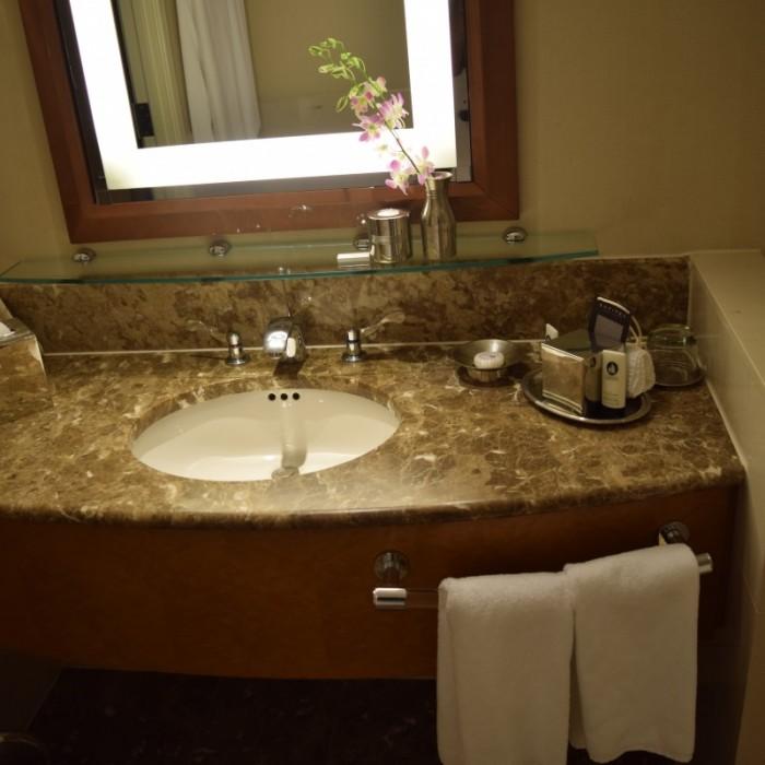 הכיור בחדר מלון סופיטל ניו יורק