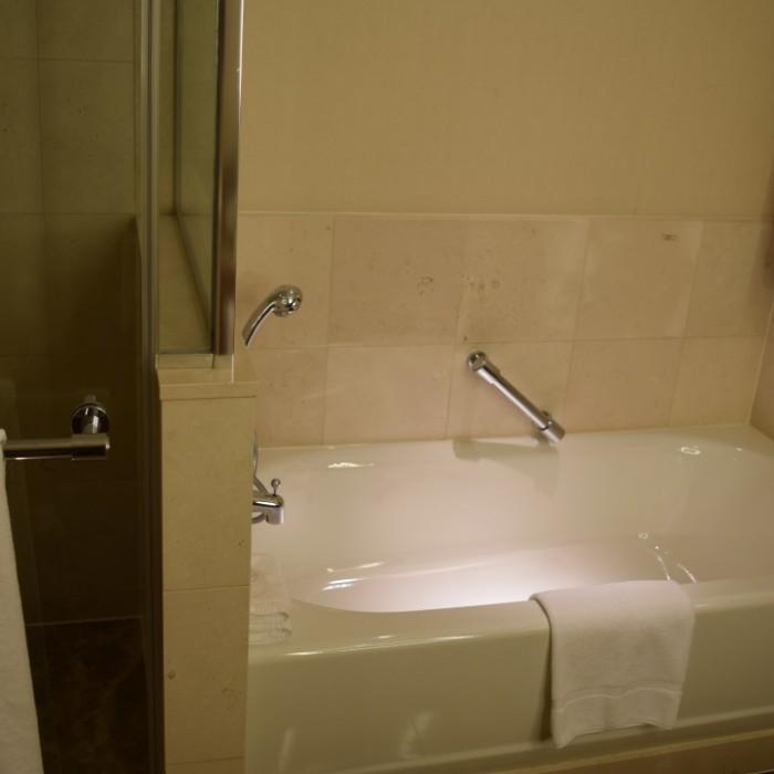 האמבטיה בחדר מלון סופיטל ניו יורק