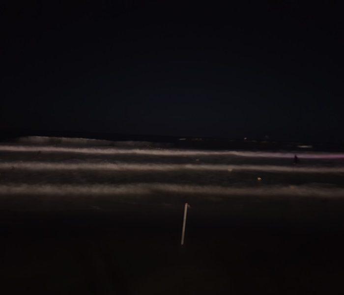 צילום ים בלילה ללא חשיפה ארוכה גלקסי 7